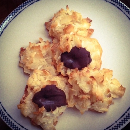 Crispy Chewy Coconut Macaroons.  Recipe at www.sweetnothingsnyc.com