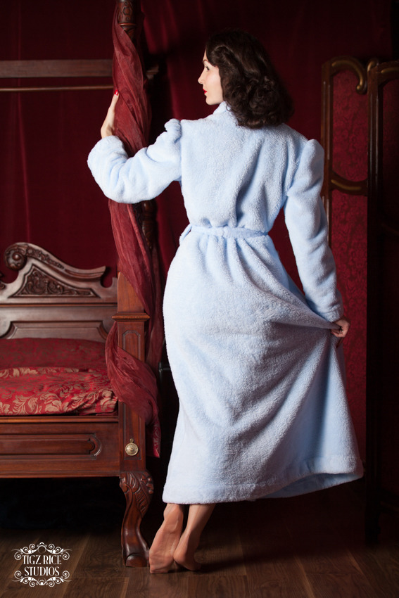 Lucille Robe by Betty Blue's Loungerie.  £105.00, available in sizes XS-XL