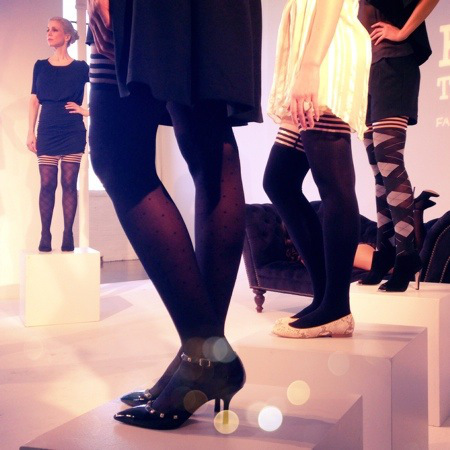 Kix'ies Thigh Highs Presentation at Lingerie Fashion Week Fall WInter 2014