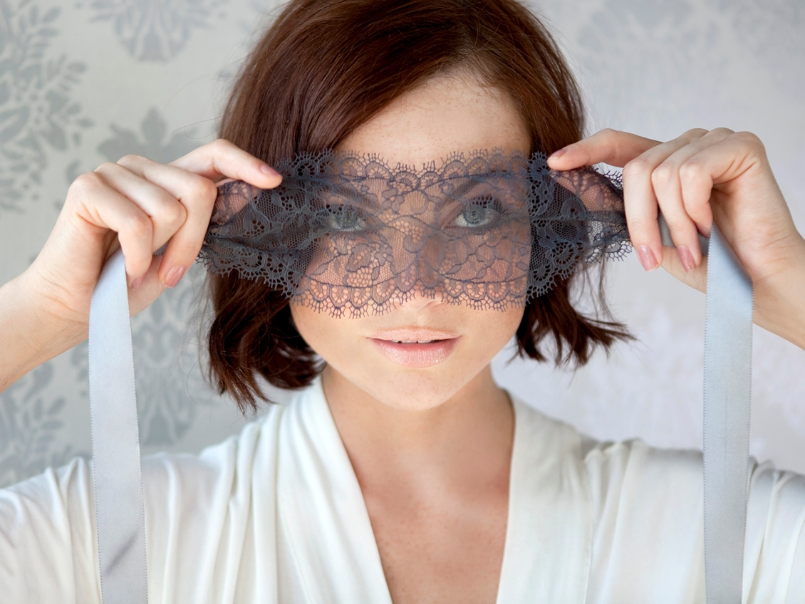 Lace and Silk Blindfold by Naked Princess