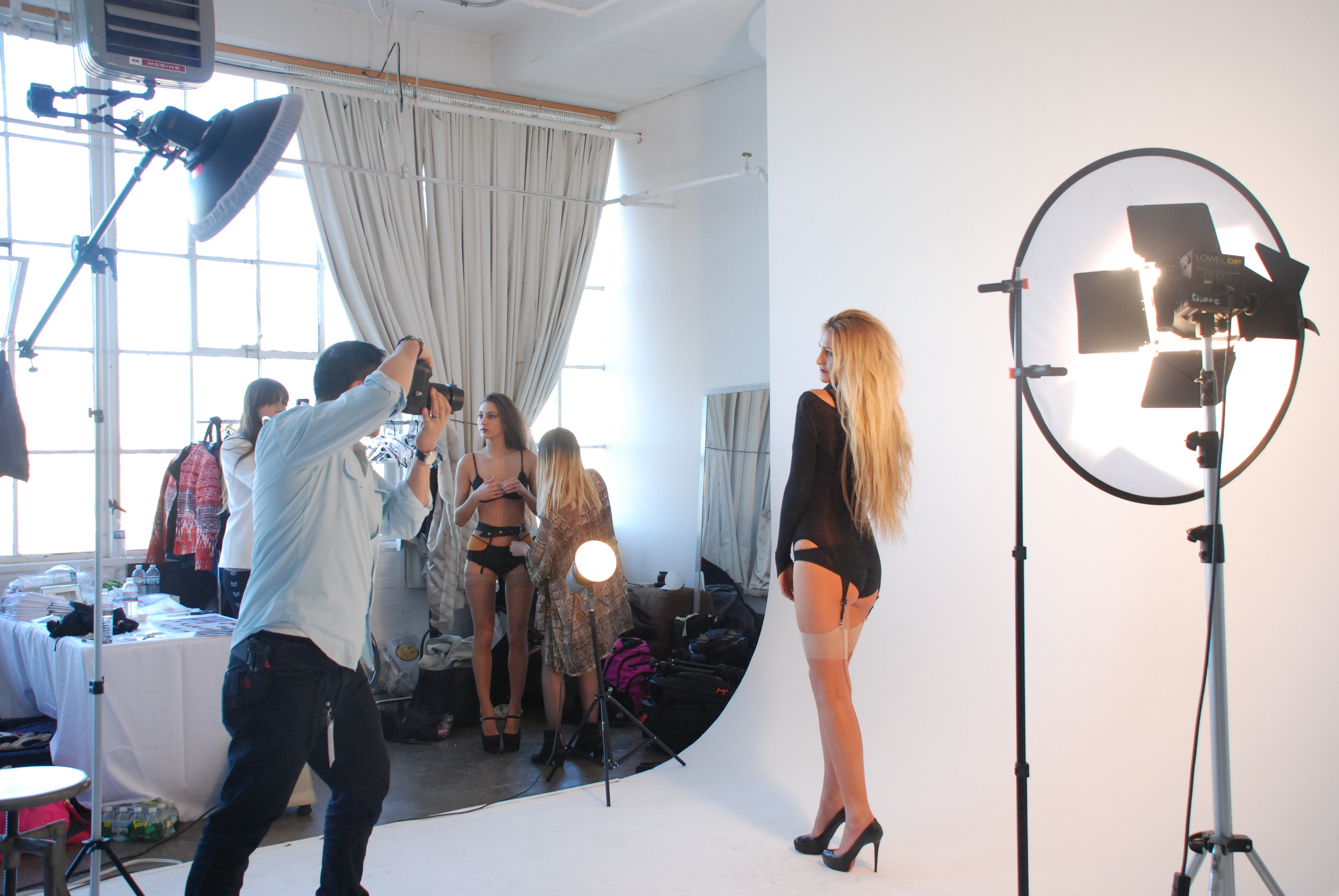 Backstage with Clare Bare at Lingerie Fashion Week