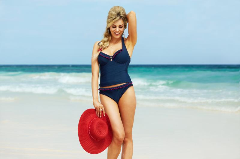 Noir Tankini by Midnight Grace. 30-38 D-GG (UK) ($54), bikini 8-18 (UK) ($27)