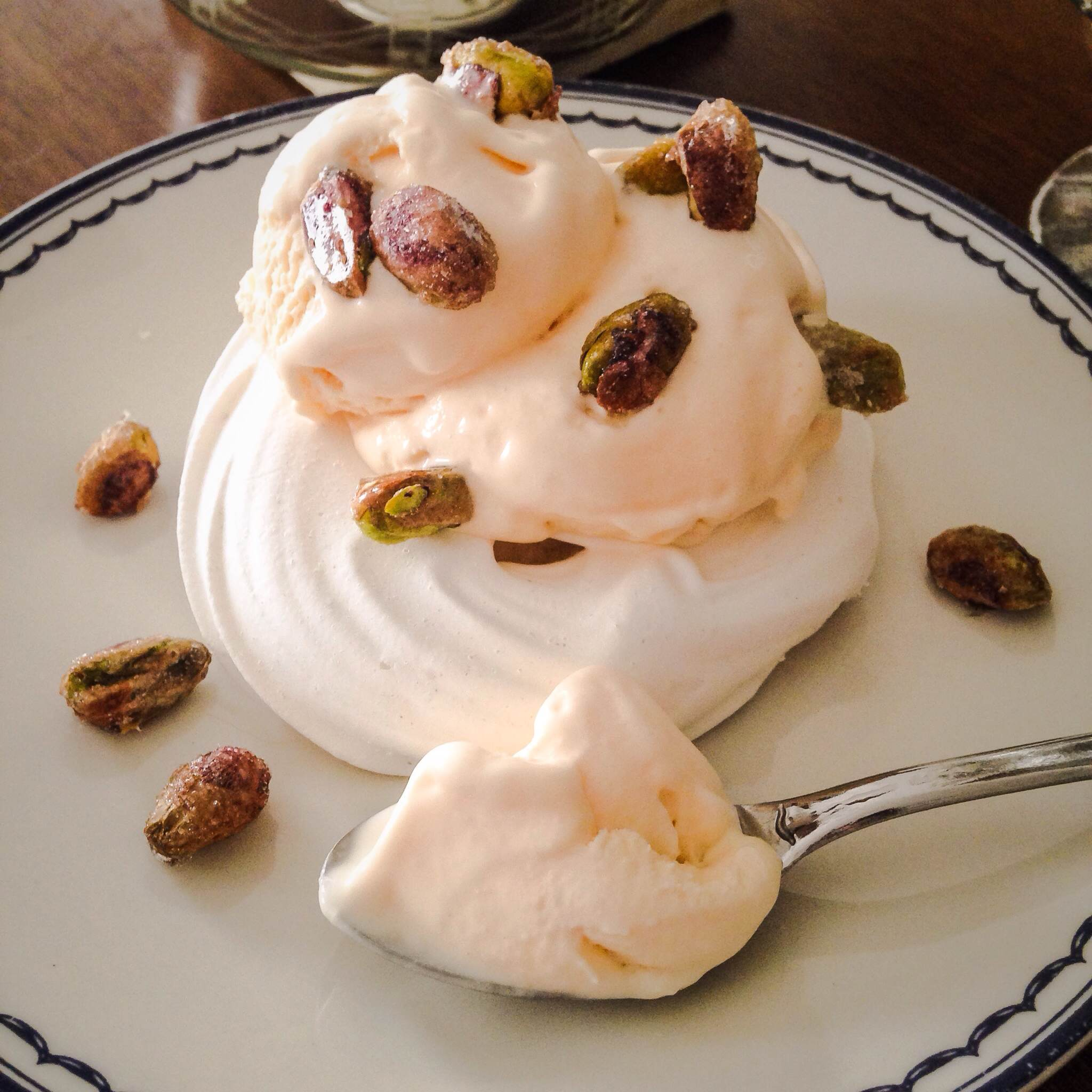 Rose and Pistachio Pavlovas Sweet Nothings