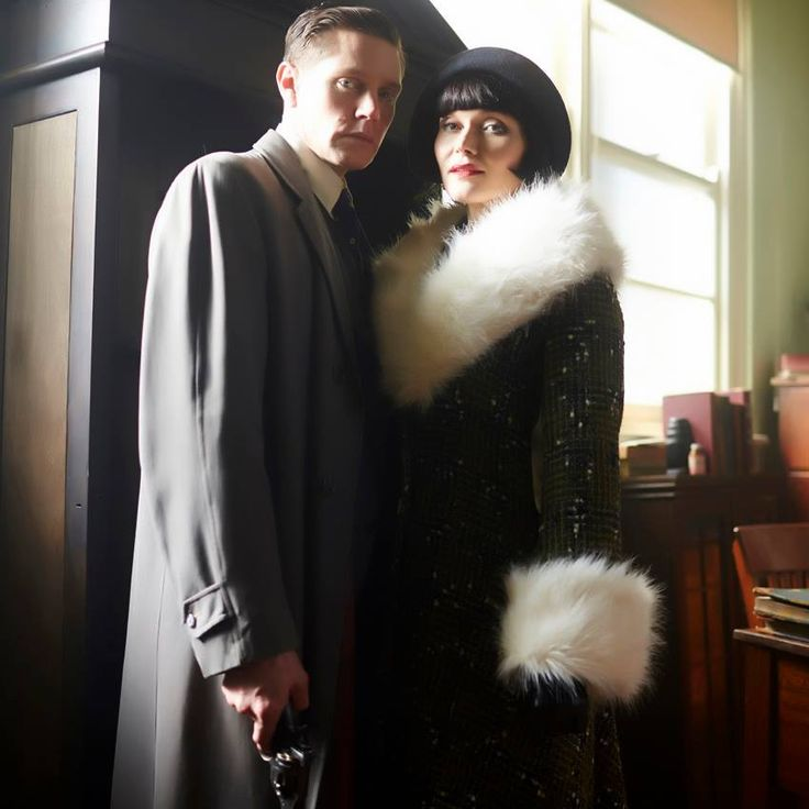 Miss Fisher and Detective Inspector Jack Robinson.  I want Phryne to have all the lovers she wants, but I am firmly Team Jack, in my heart.