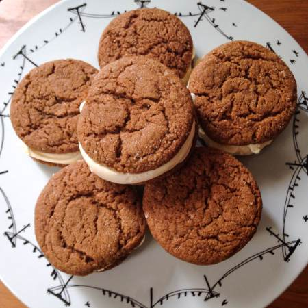 Sweet Nothings Lemon Gingersnap Ice Cream Sandwiches