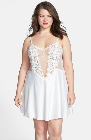 Showstopper Chemise ($130) (1X-3X) by Flora Nikrooz via Nordstrom