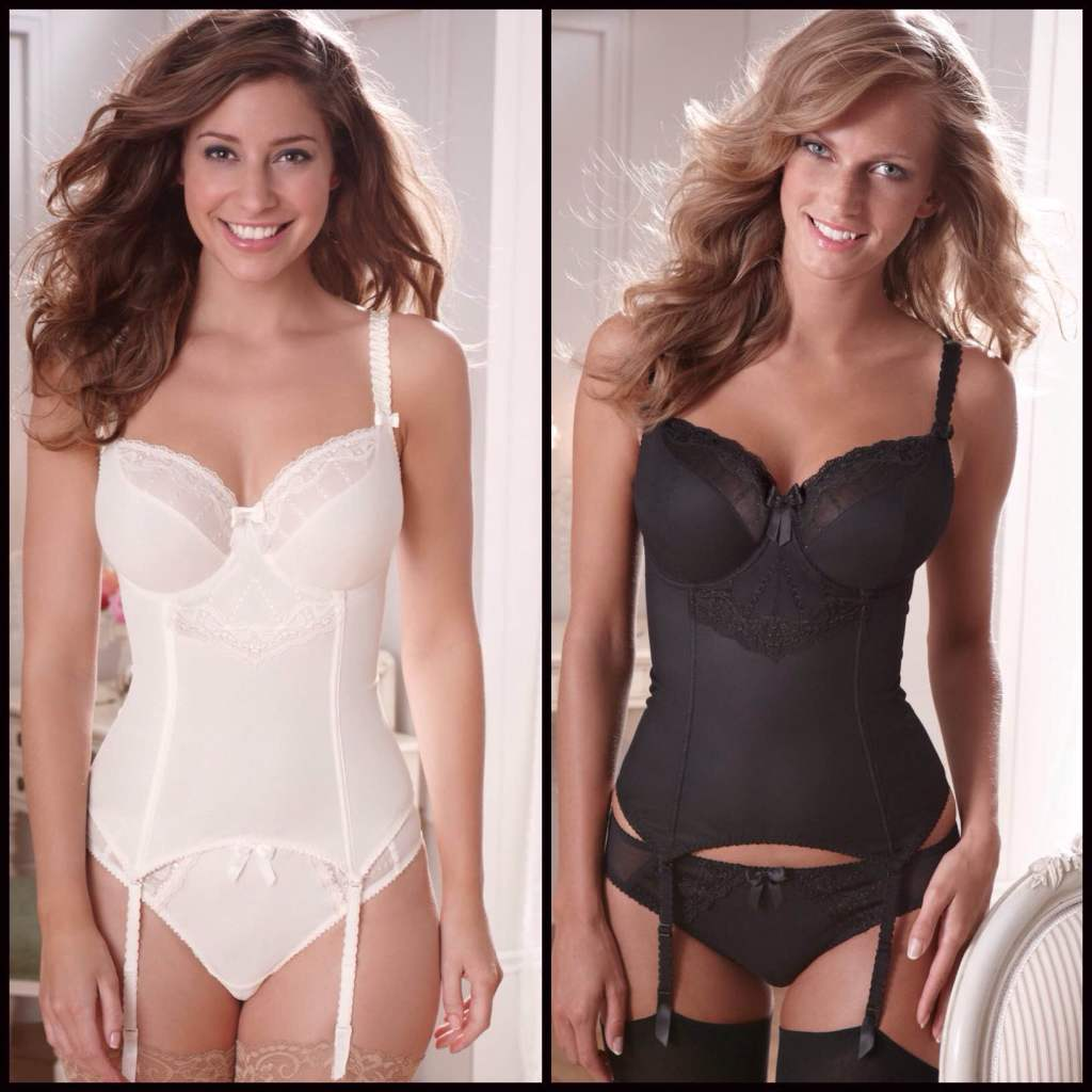Lola Luxe Basque in ivory and black by Bravissimo (£50, about $78.50)