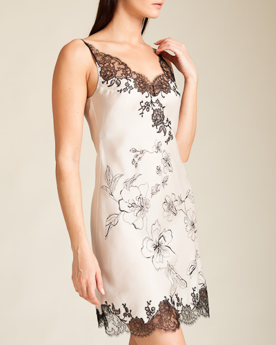 Sonia Printed V-Neck Silk Chemise ($1140) (S, M, L) by Carine Gilson via Nancy Meyer