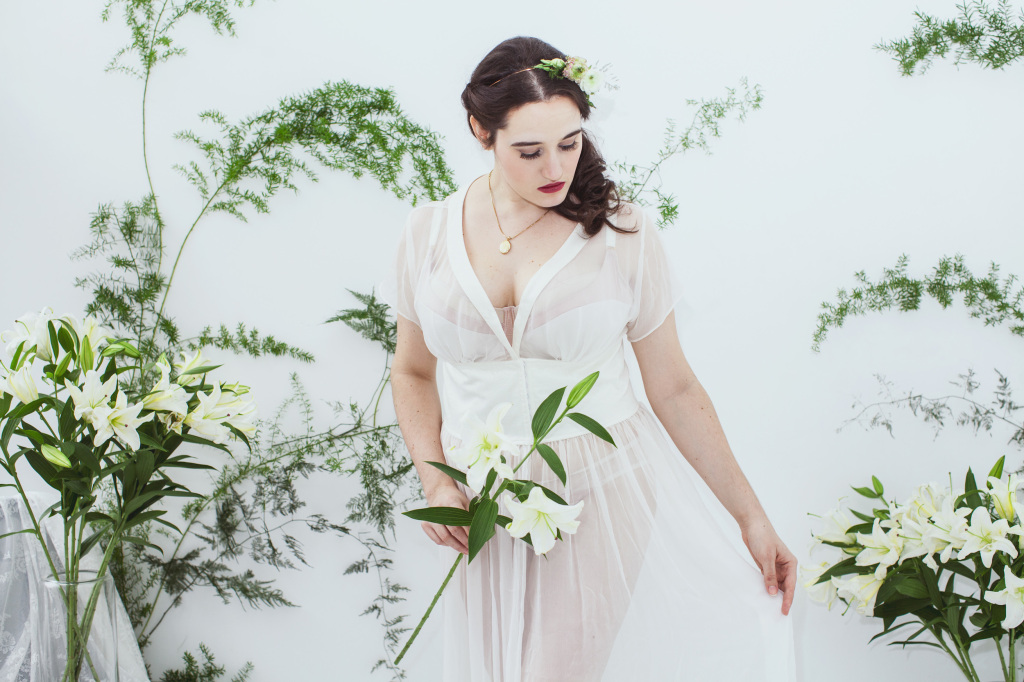The Sweet Nothings Holiday Edit- Giselle Lingerie by Lulu and Kath, All Undone, photo by Lydia Hudgens, flowers by Mimosa Floral.