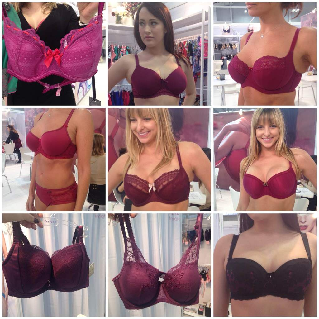 Sweet Nothings CurveNY Trend Report FW2015- Plum/Berry: Clockwise from top left: Tutti Rouge 'Liliana', Fantasie 'Rebecca', Panache 'Brooke', Cleo 'Maddie', Fantasie 'Mariana', Affinitas 'Molly', Parfait 'Destiny', Panache 'Cari', Cleo 'Marcie'