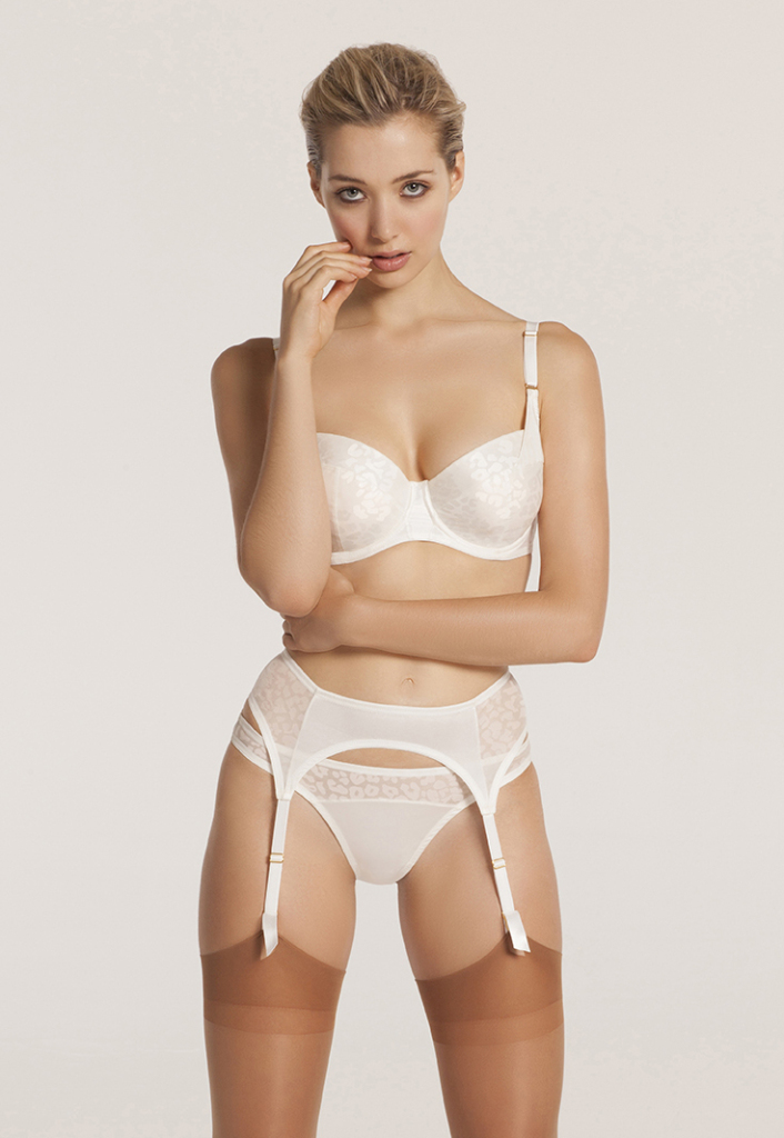 Willa bra, brief, and suspender belt by All Undone, 28-34 D-GG. £95 (about $145)