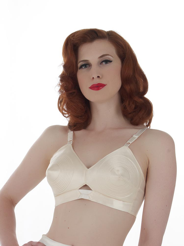 Padded Satin Bullet Bra by What Katie Did