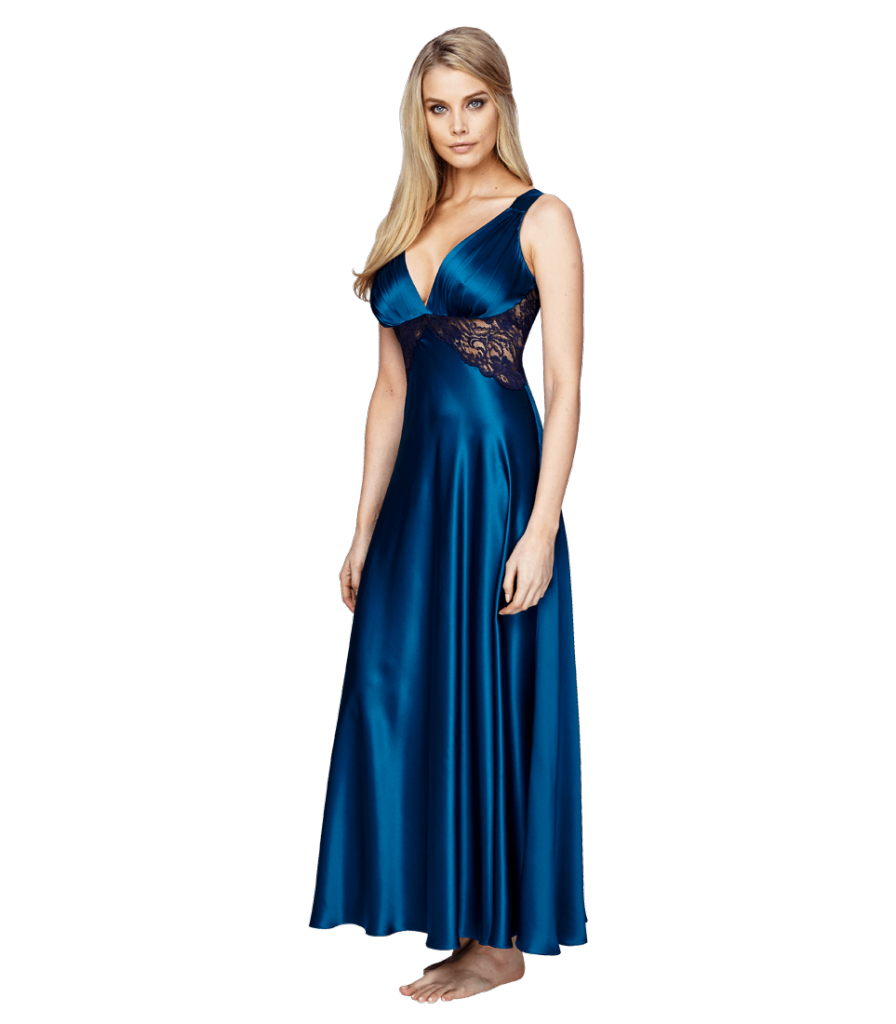 Christine Lingerie Glamour Gown in Peacock