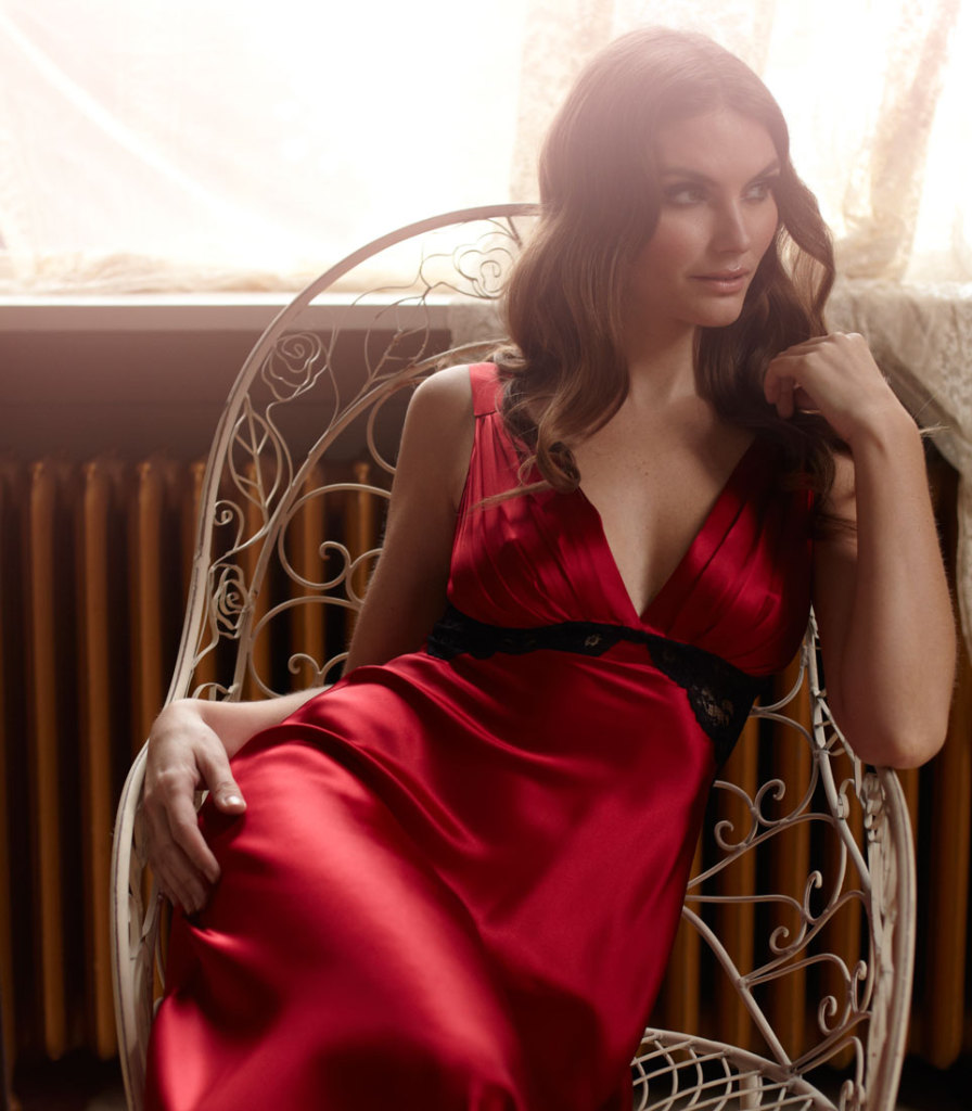 Christine Lingerie Glamour Gown in Ruby