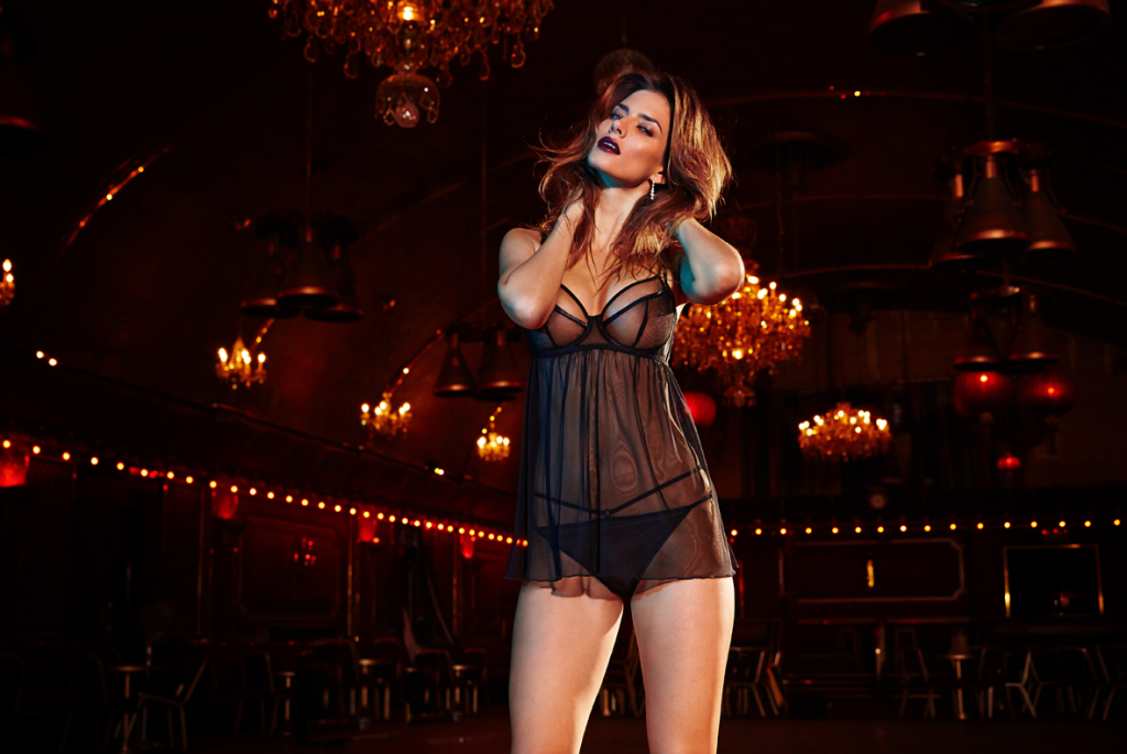 Figleaves Boudoir Carmen Babydoll and Thong ($88/$40)