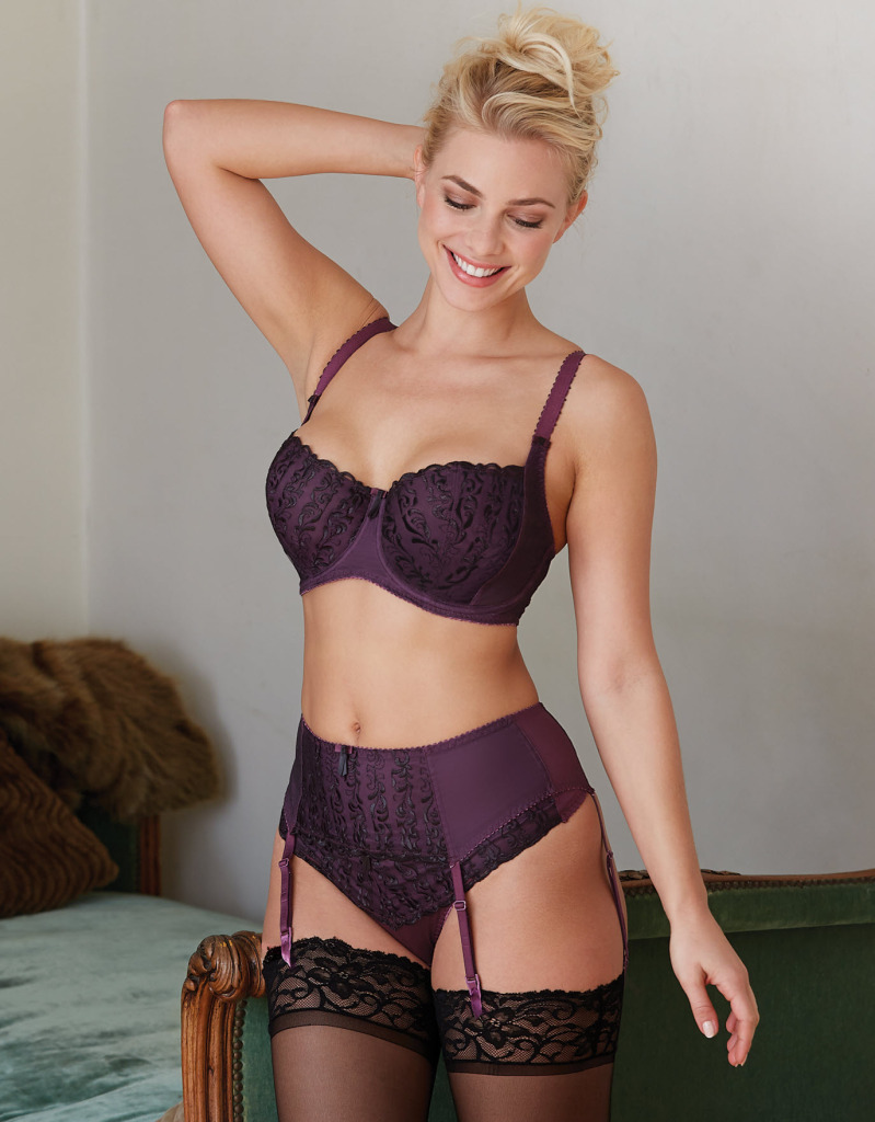 Sophia Bra, Suspender Belt, and Thong by Bravissimo.