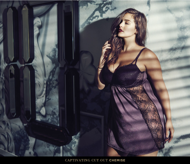 Ashley Graham Chemise, X-3X