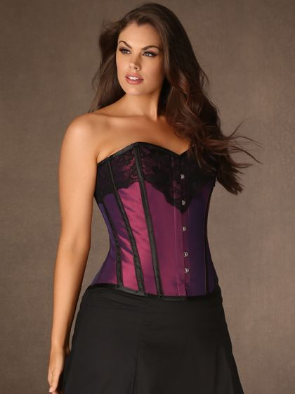 Hips and Curves Iridescent Satin Corset, 28-44