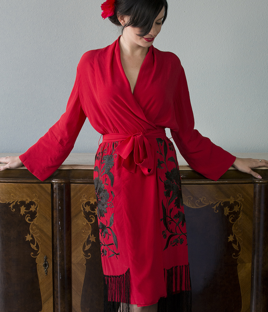 Trashy Diva Flapper Robe,  S-XL