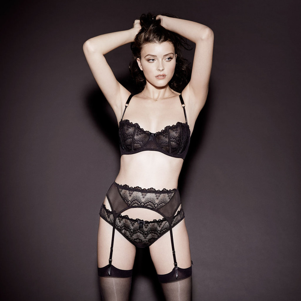 More by Bluebella Lucia Bra, Brief, and Suspender Belt in Black