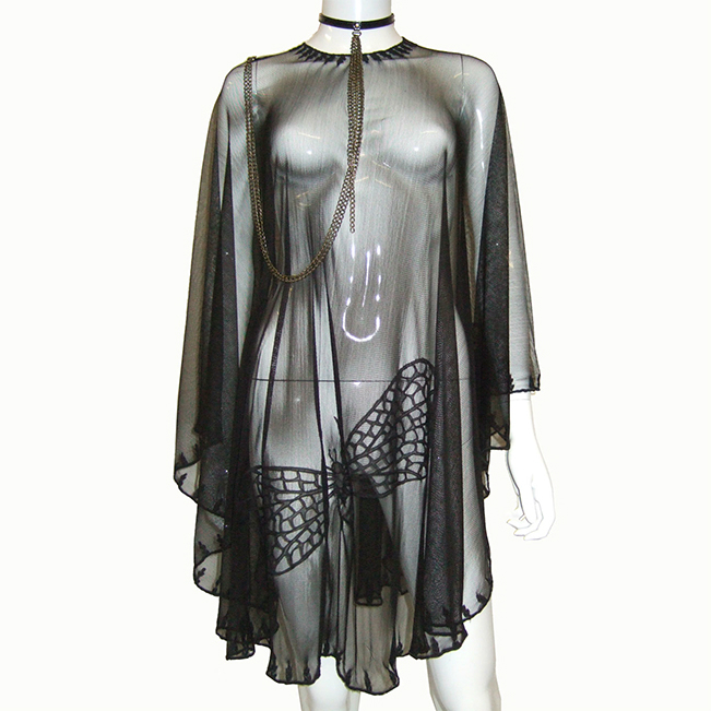 Steph Aman Black Moth Cape (one size)