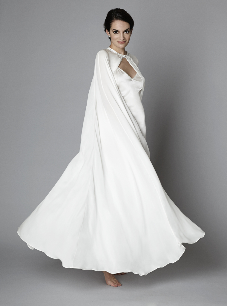 The Giving Bride Natalie Silk and Swarovski Cape