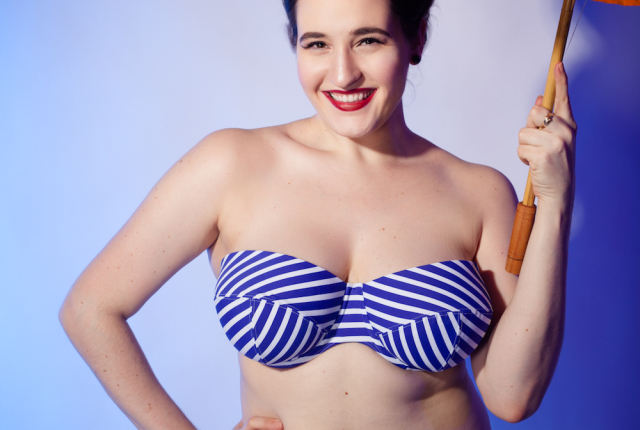 Sweet Nothings reviews Lilly and Lime Stripe Bikini. Photo (c) Studio Rezin