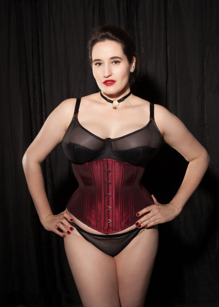 Sweet Nothings reviews Timeless Trends Burgundy Hourglass Corset. Photo (c) Studio Rezin