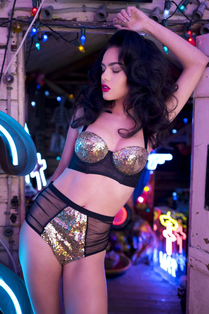 Peek and Beau Tallulah Sequin Bra and Briefs