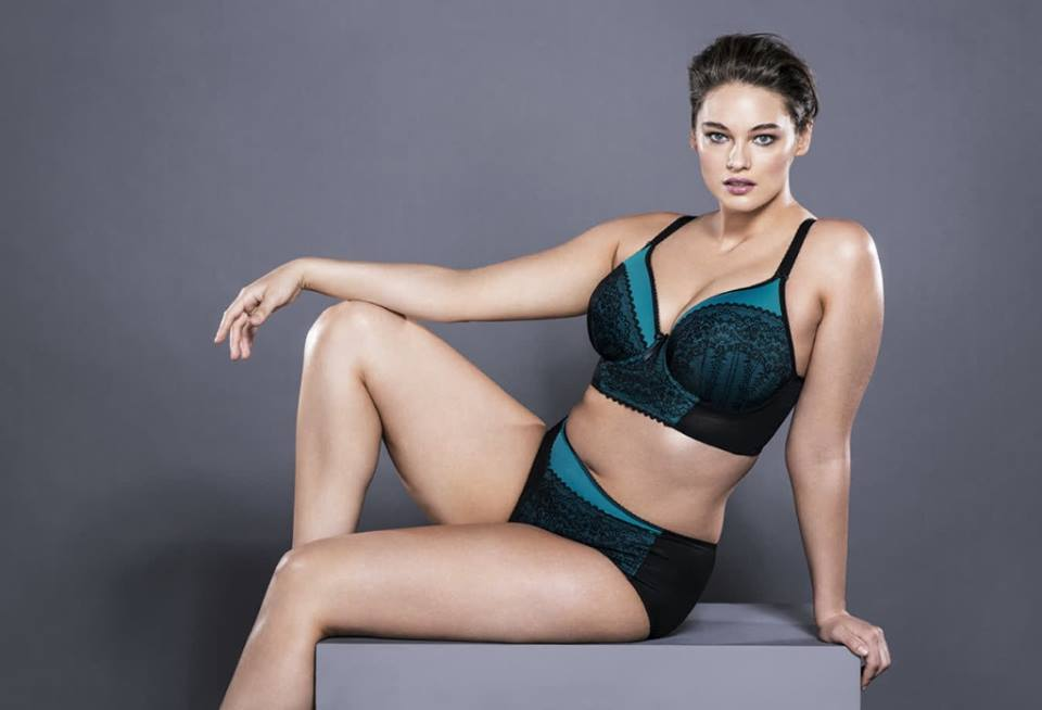 Elomi Bijou Teal Longline Bra and Brief