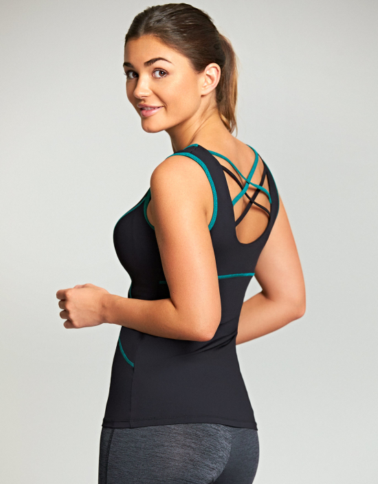 Bravissimo Cross-Back Sports Vest, US sizes 4-14, Curvy/Really Curvy and Really Curvy/Super Curvy