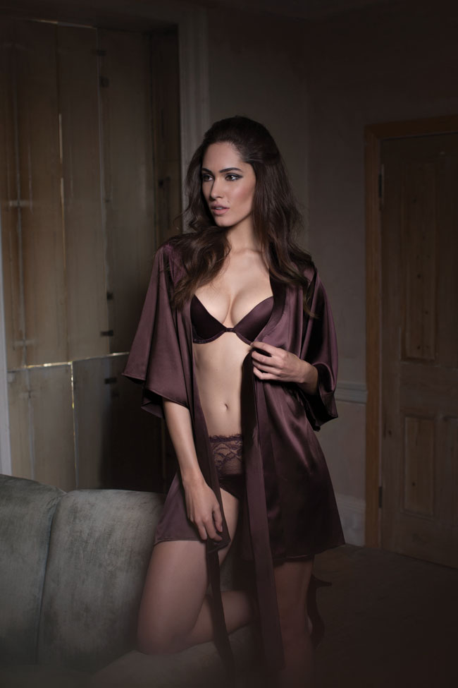 Fleur of England Hot Chocolate Silk Robe
