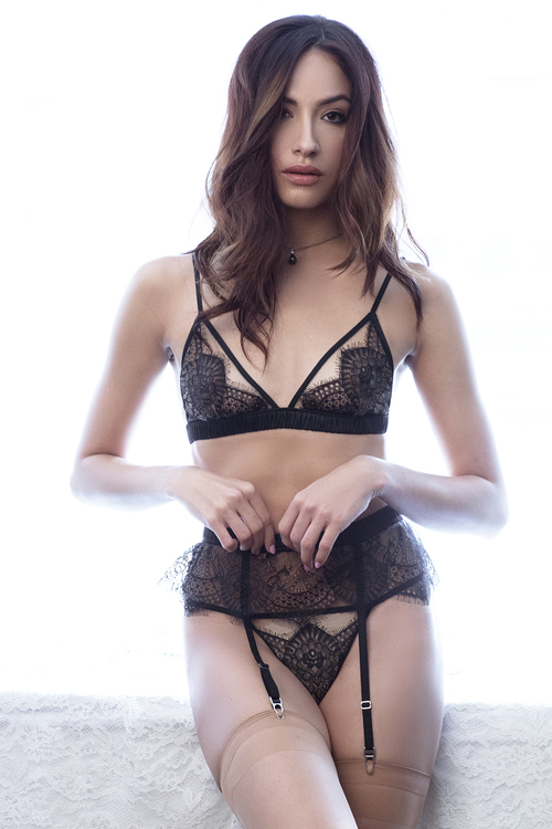 Giselle Bralette, Thong, and Garter Belt by Angela Friedman