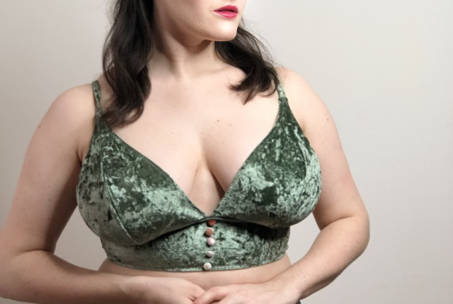 Sweet Nothings reviews ASOS Fuller Bust Heidi Green Velvet Longline Bra