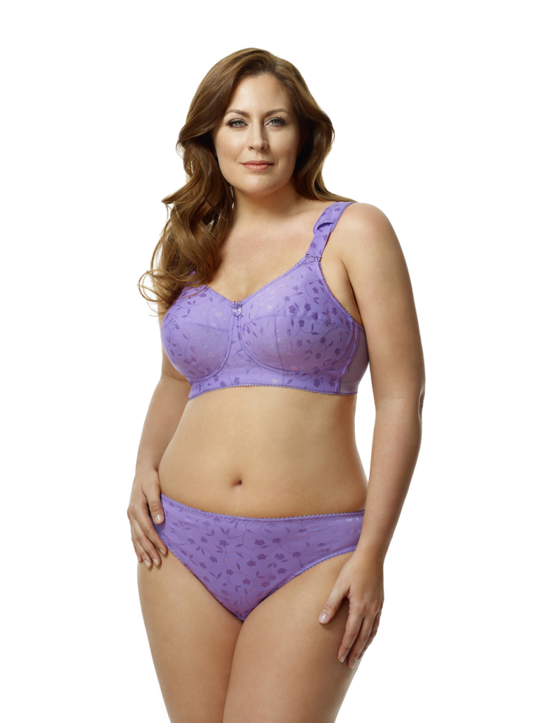 Elila Jacquard Softcup Bra, 34-52 DDD-N (US cup sizes). Elila make some of the largest sizes on the market, with unique construction details like cushioned straps and sides to support the weight of larger breasts comfortably.