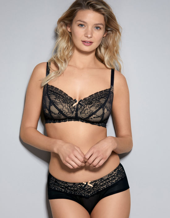 Panache 'Sophie' Non-Wired Bra, 30-40 D-J, available in black, beige, and candy pink. This style is a classic and comes in one of the largest cup size ranges around.