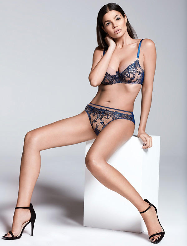 Katherine Hamilton Abrielle Blue Bra and Brief