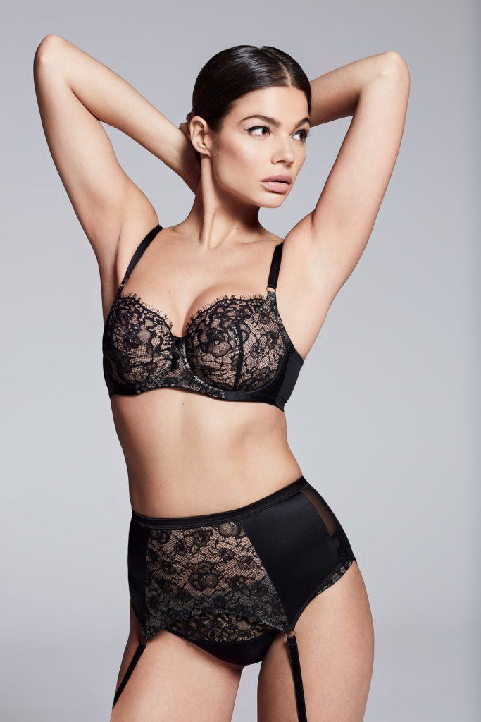 Katherine Hamilton Abbie Black Bra and High Waist Brief