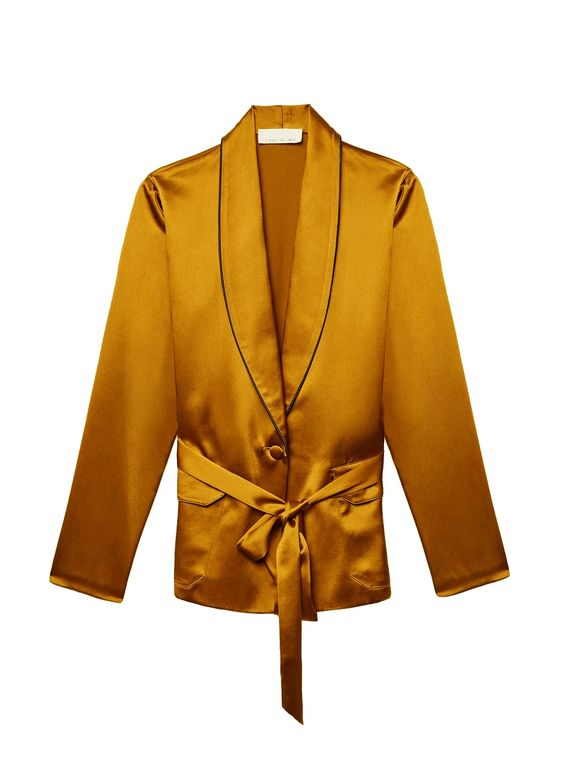 Fleur du Mal Gold Digger Smoking Jacket
