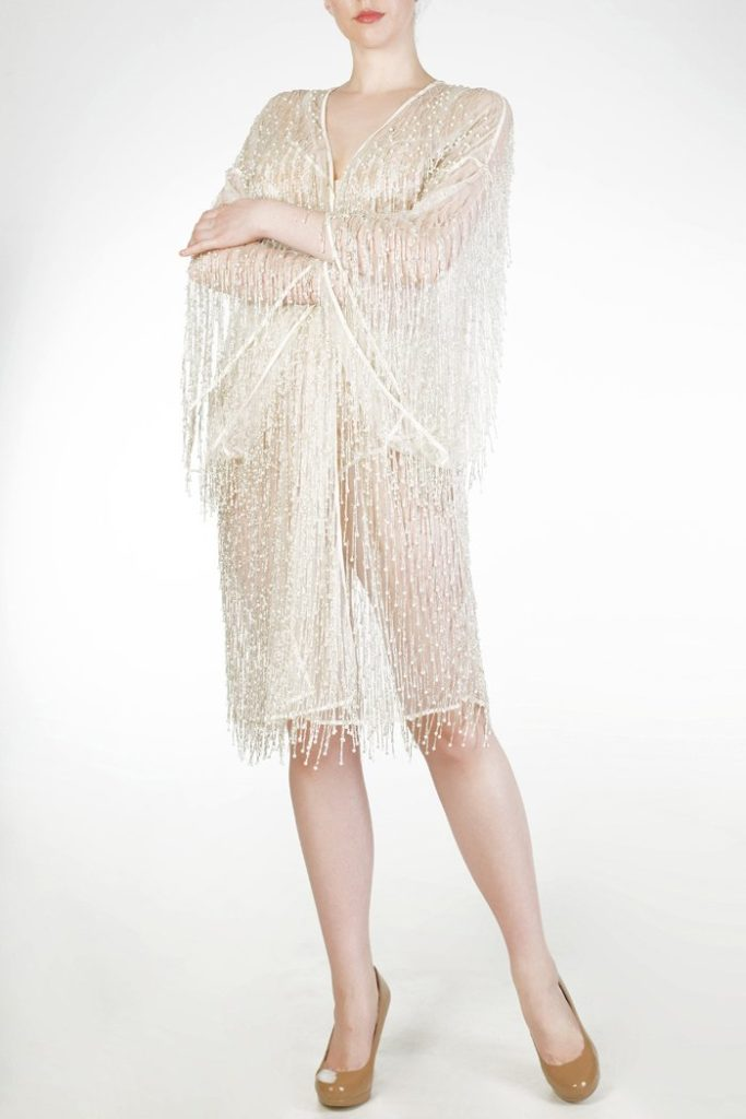 Harlow & Fox Cassiopeia Silver Beaded Robe