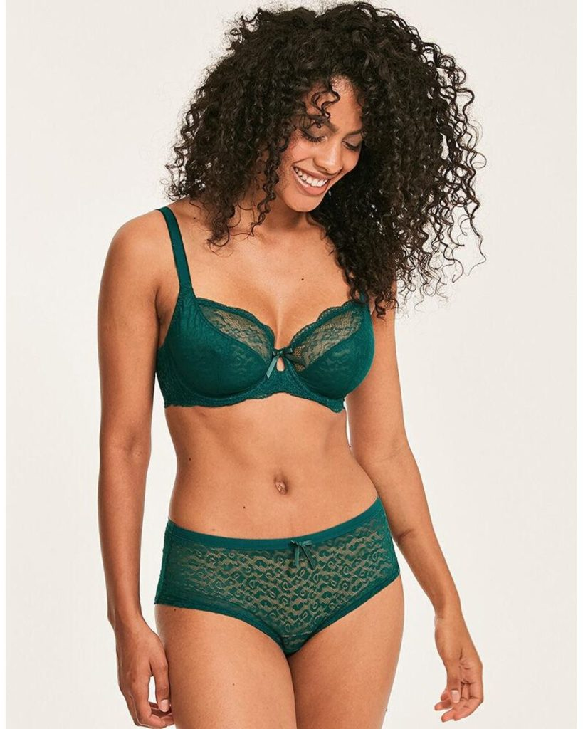 Freya Fancies Plunge Bra in Emerald, 28-28 band sizes, D-K cup sizes